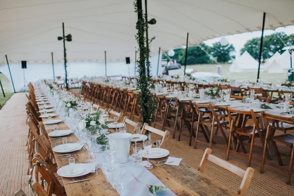 elegant stylish wedding breakfast details
