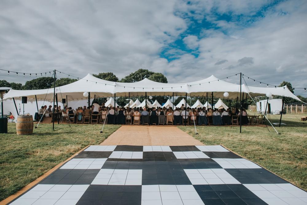 open aired dancefloor diy festival wedding
