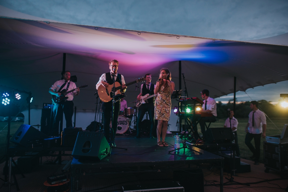 Bill Ding and the Skyscrapers at festival wedding