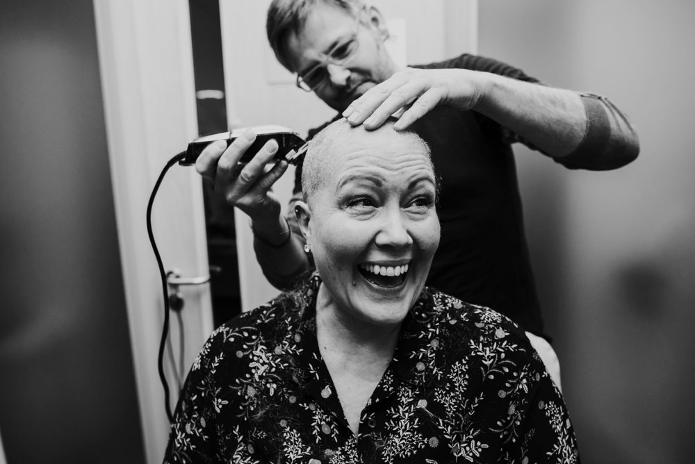 cancer survivor, cancer shave off, candover clinic