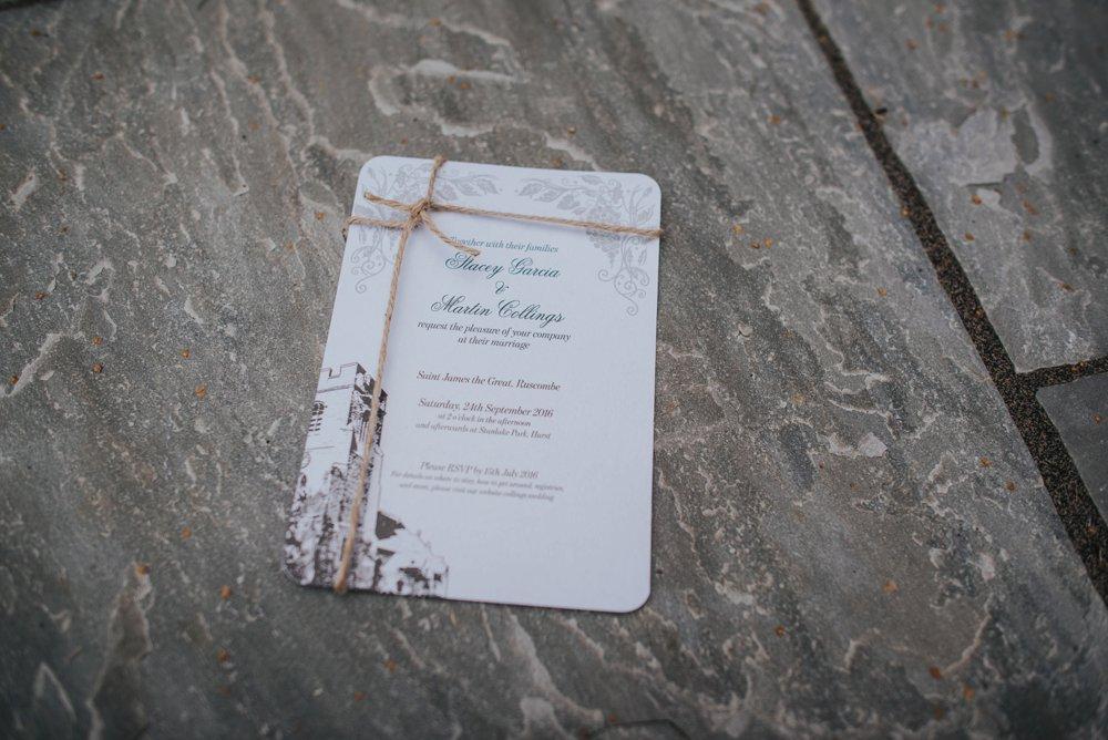 stanlake park, wedding invitation