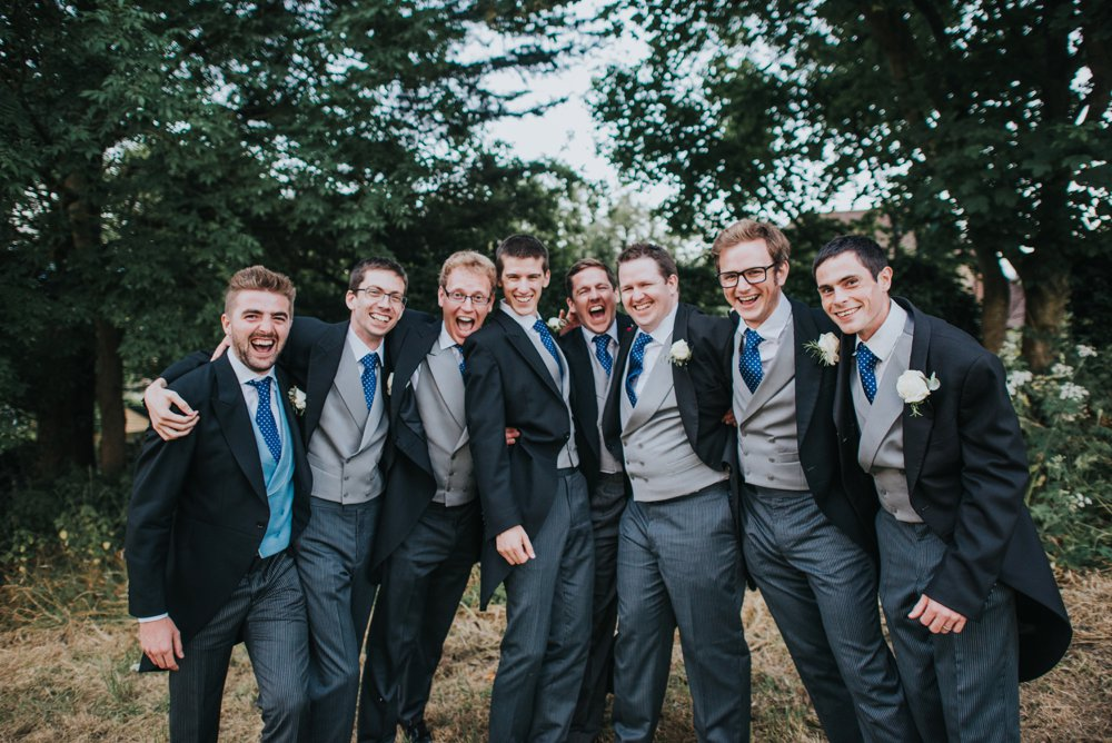 groom and ushers on wedding day