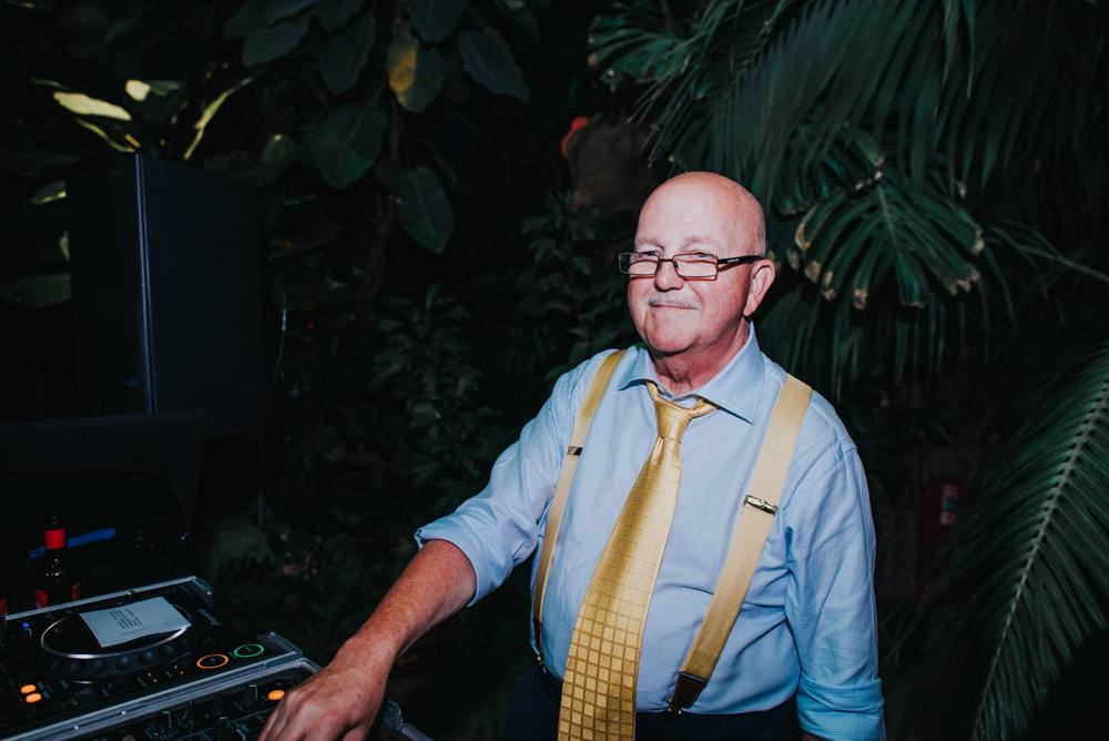 Dad DJ, yellow tie