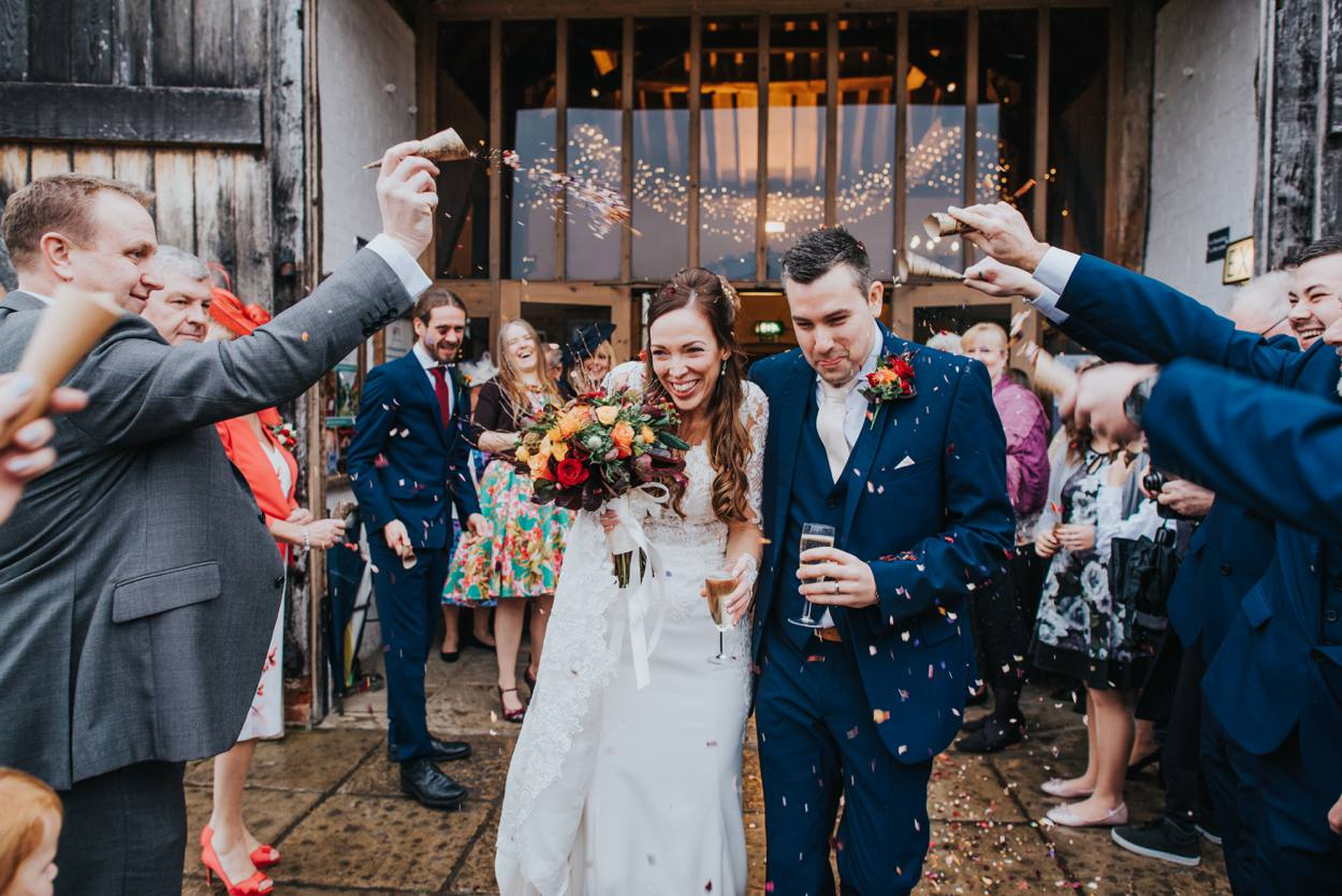 autumnial confetti throw at Ufton Court