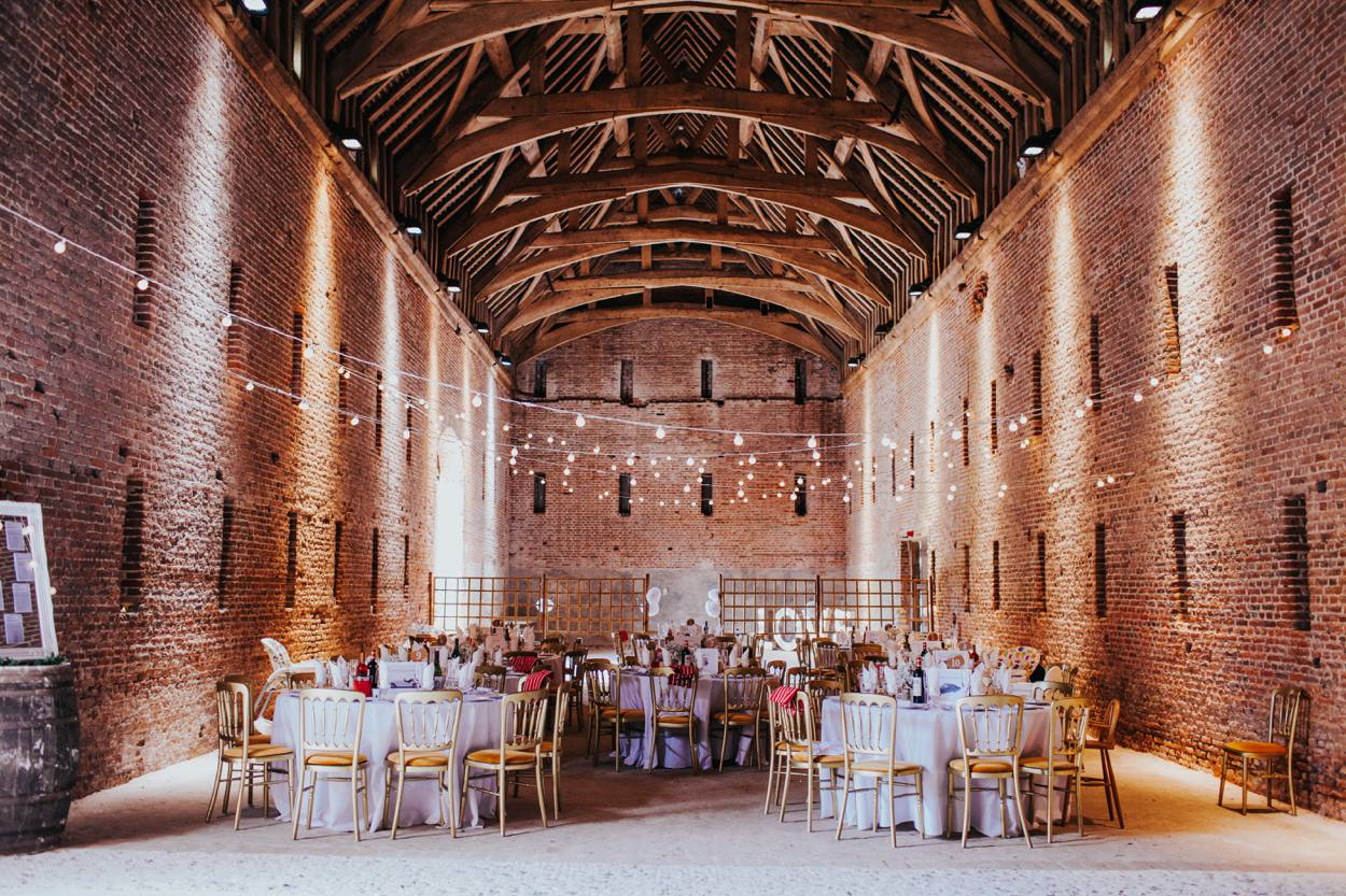 Old Basing barn set up for a wedding