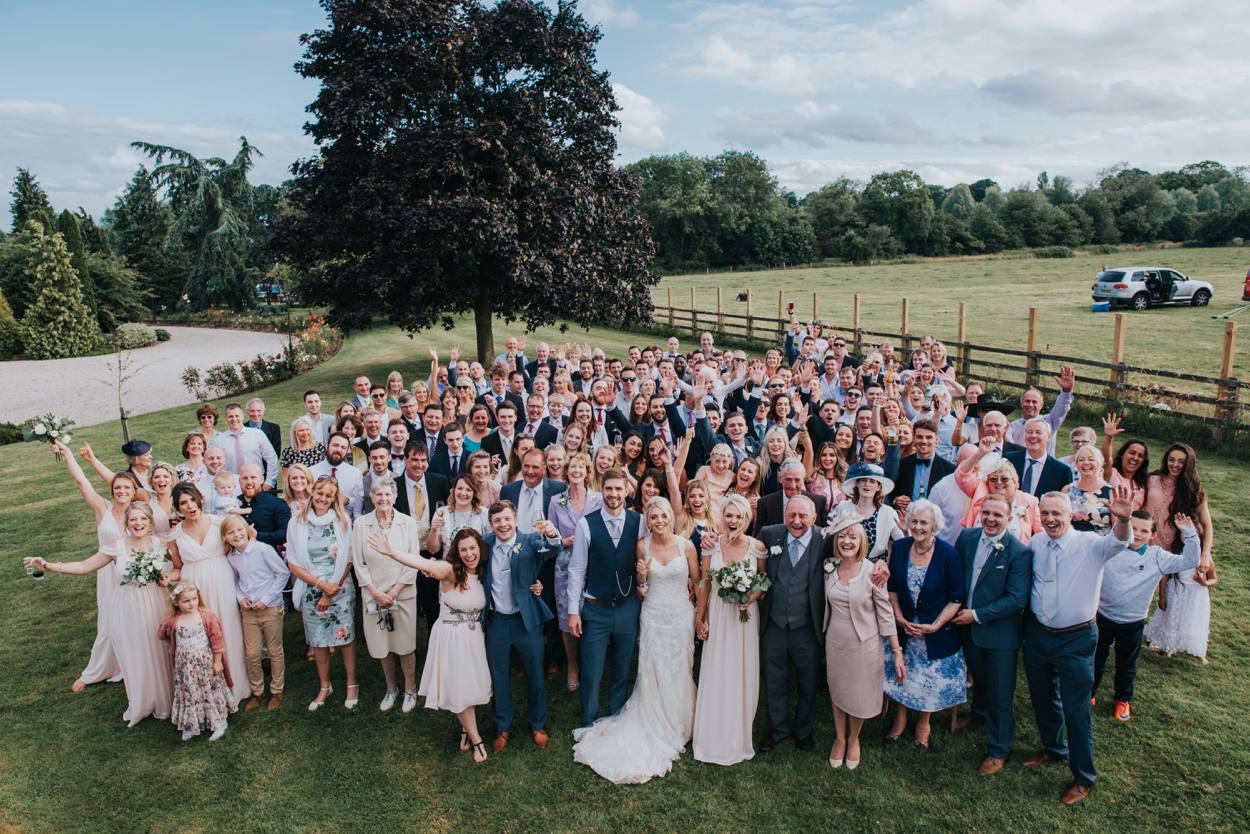 wedding group shout