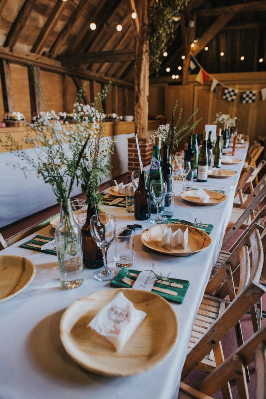 DIY boho wedding in barn, details