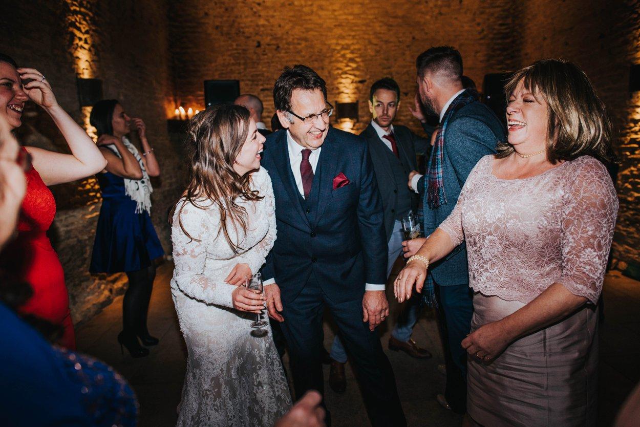 bride dancing with her dad at wedding
