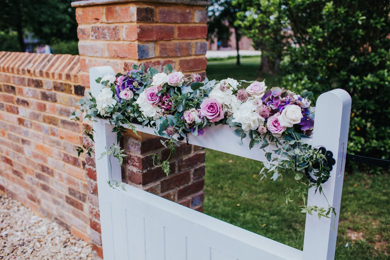 floral gate details by ruby and grace