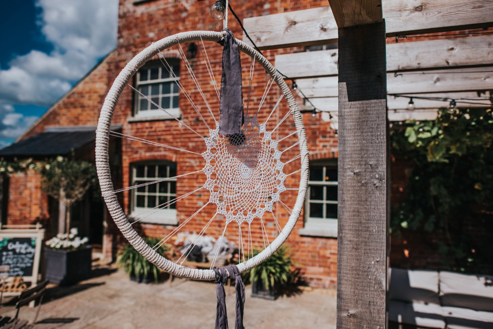 Dream catcher hanging at sopley Mill