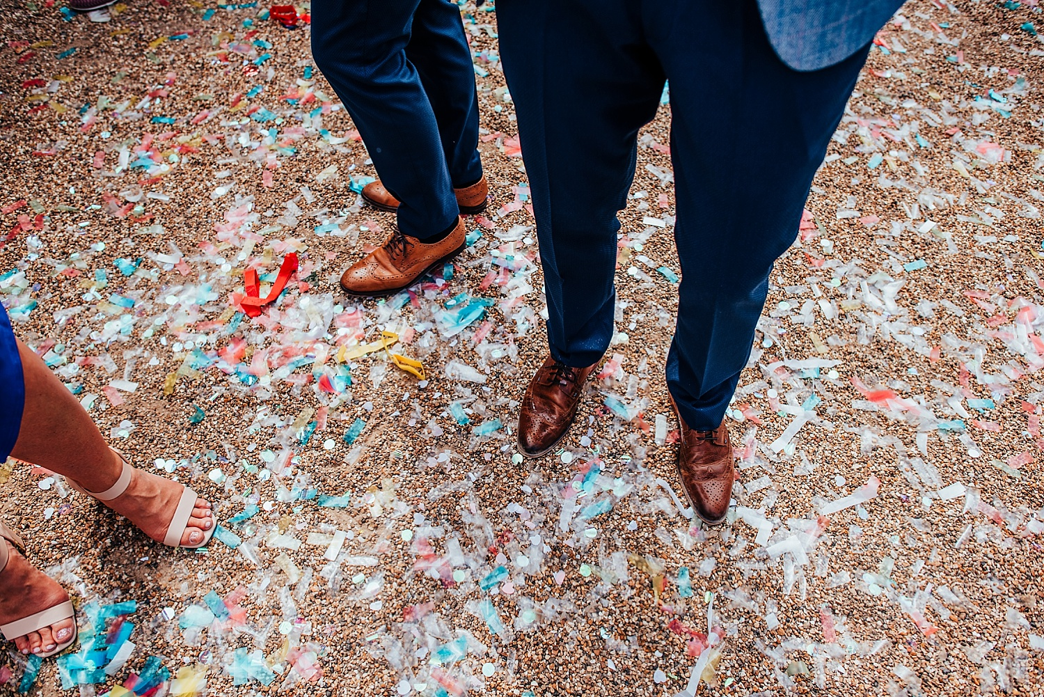 confetti wedding day gay wedding oakley hall