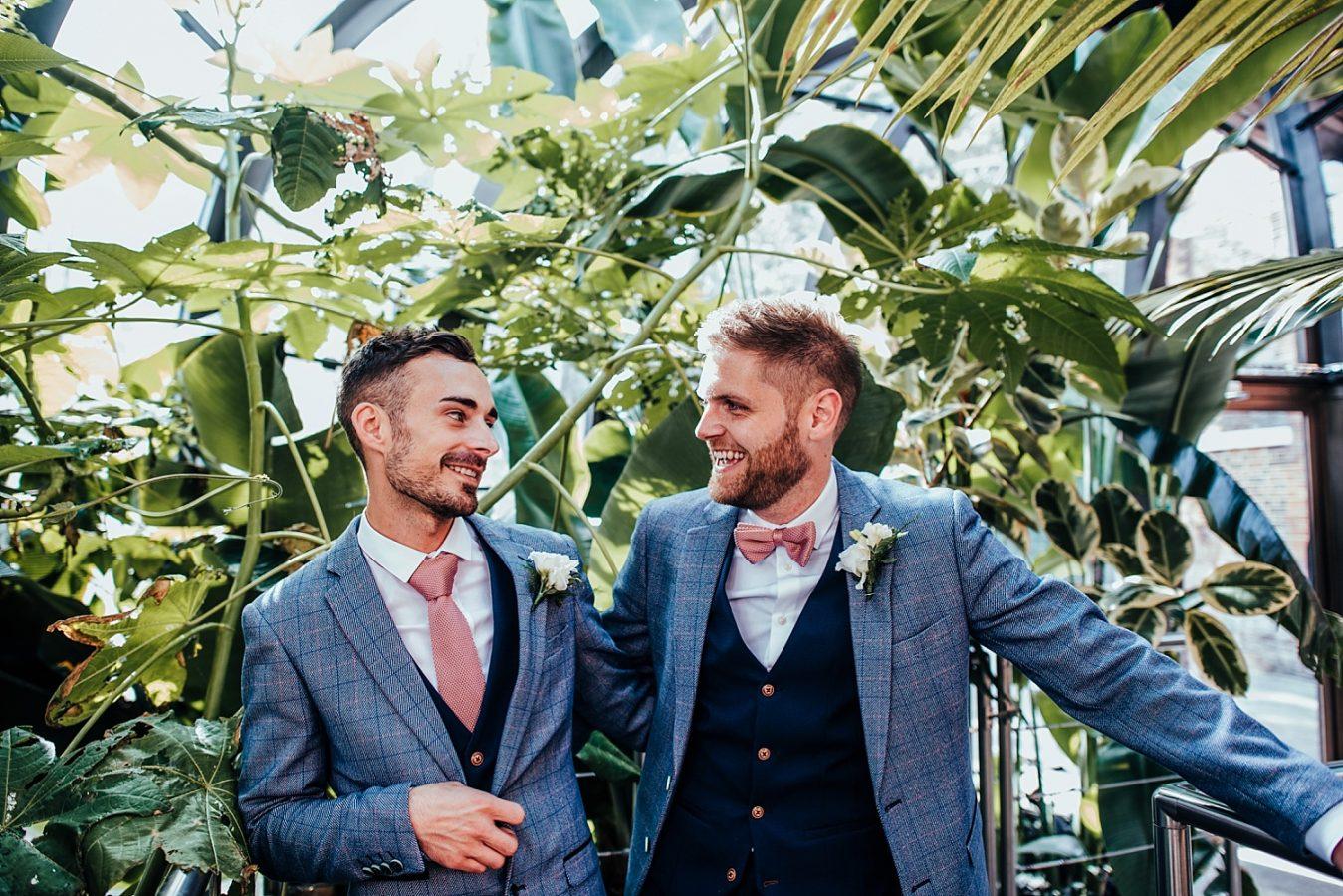 same sex wedding at bombay sapphire distillery wedding laverstoke