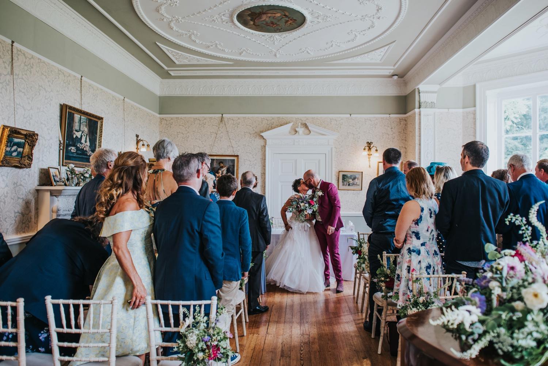 wedding ceremony at penton park