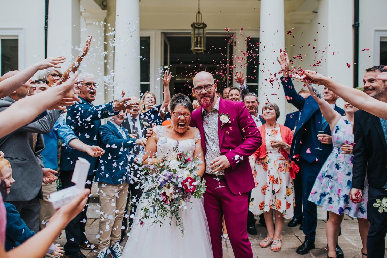 colourful wedding Penton Park