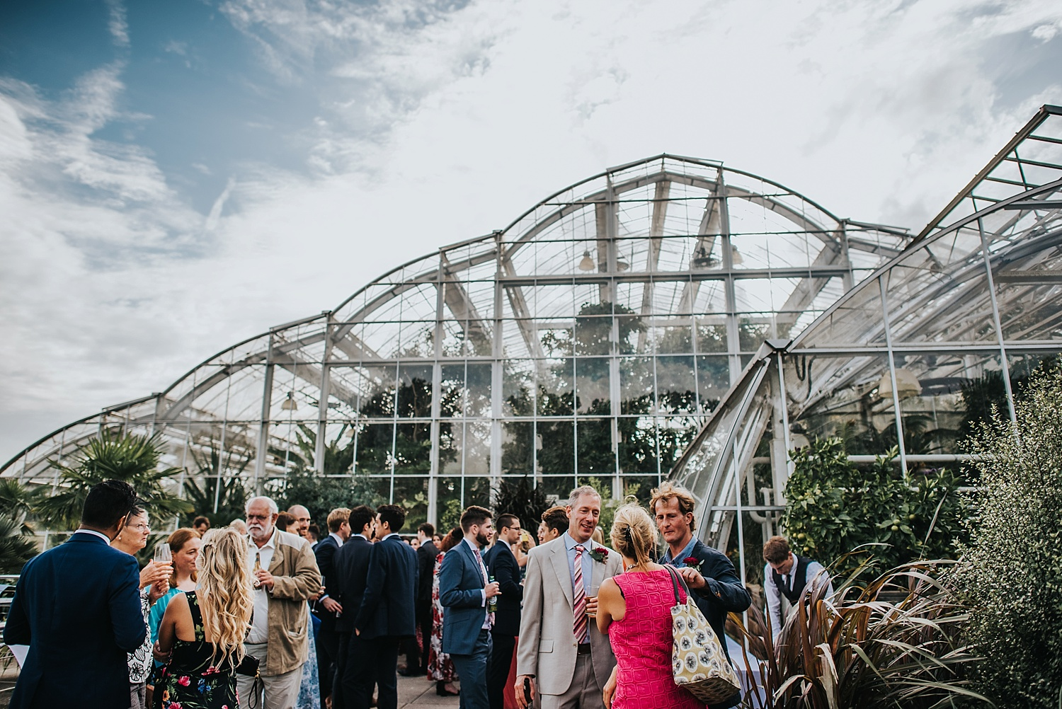 RHS Wisley Glasshouse with guests