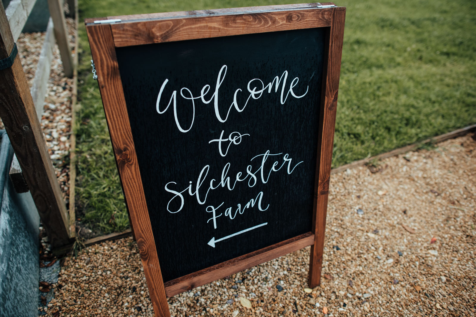 welcome to silchester farm wedding sign
